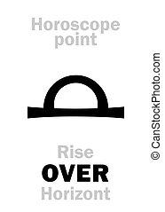 astrology:, alzarsi, sopra,  Horizont