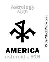 astrology:, astéroïde, amérique