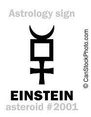 astrology:, astéroïde, einstein