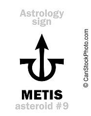 astrology:, astéroïde, metis