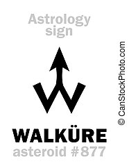 astrology:, astéroïde, walküre