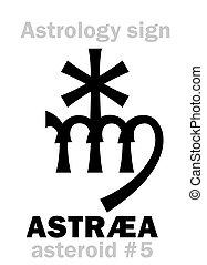 Astrology: asteroid ASTRÆA