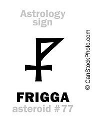 Astrology: asteroid FRIGGA