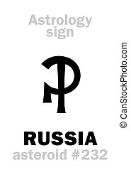 Astrology: asteroid RUSSIA