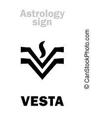 Astrology: asteroid VESTA