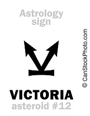 astrology:, asteroide, victoria