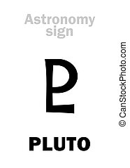 Astrology: astronomical sign of PLUTO