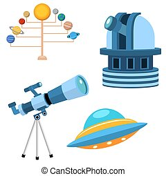 Astrology astronomy icons planet science universe space radar cosmos sign universe vector illustration.