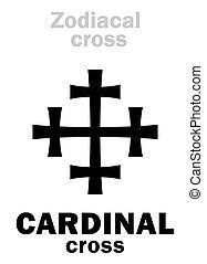 Astrology: CARDINAL cross