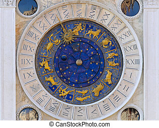 Astrology clock San Marco - Zodiac clock at San Marco square...