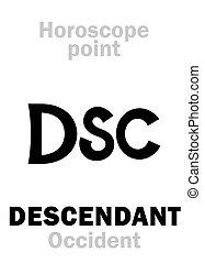 Astrology: DSC (Occidental point) - Astrology Alphabet: DSC...