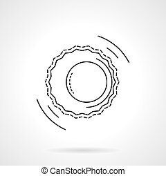 Astrology flat line design vector icon