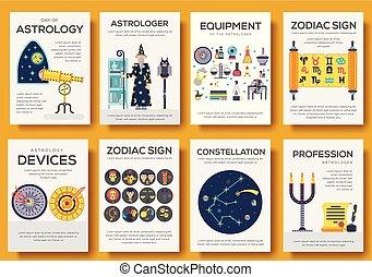 Astrology house icons design illustration set. Flat...