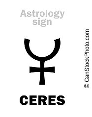 Astrology: little planet CERES