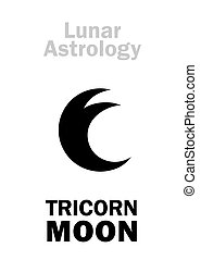 astrology:, luna, three-horned