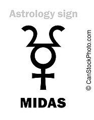 Astrology: planet MIDAS