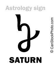 Astrology: planet SATURN - Astrology Alphabet: SATURN,...