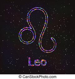 Astrology Shining Symbol. Zodiac Leo.