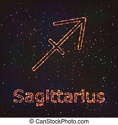 Astrology Shining Symbol. Zodiac Sagittarius.