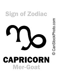 Astrology: Sign of Zodiac CAPRICORNUS (The Mer-Goat)