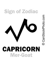 Astrology: Sign of Zodiac CAPRICORNUS (The Mer-Goat)