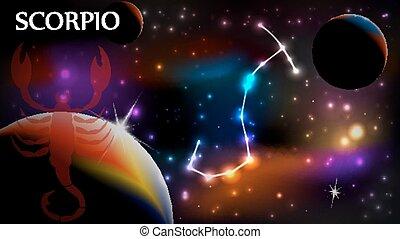 Astrology Sign - Scorpio - Scorpio - Space Scene with...