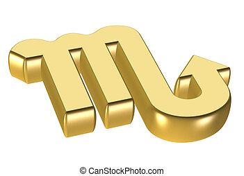 astrology symbol - gold astrology icon symbol - computer ...
