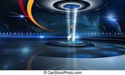 Astrology tower Virtual studio set