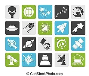astromomie, icônes, espace