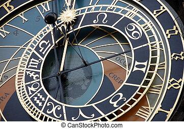 astronómico, clock.