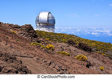 astronómico, telescopio del observatorio