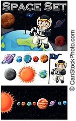 astronaunt, システム, 太陽