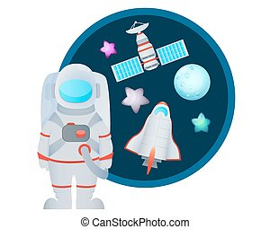 Astronaut and Space Set