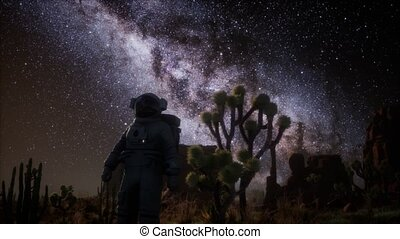 Astronaut and Star Milky Way Formation in Death Valley