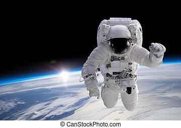 Astronaut at spacewalk