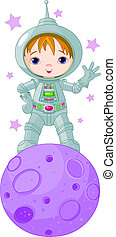Astronaut Boy - Astronaut Boy wearing a spacesuit on the...