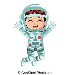 Astronaut boy cartoon