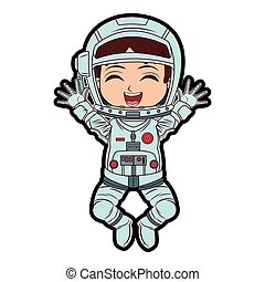Astronaut boy cartoon