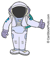 Astronaut on white background - isolated illustration.