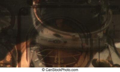 Cockpit and astronaut