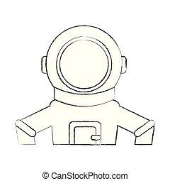 astronaut comic character icon