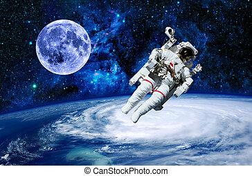 Astronaut Earth Moon Space