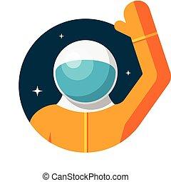 Astronaut, Flat design, vector illustration, isolated on...