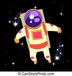Astronaut floating through Space