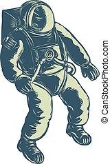astronaut-floting-space-scratchboard