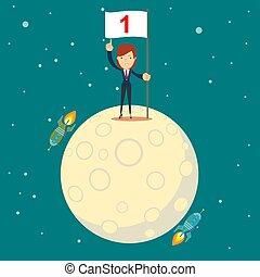 astronaut girl moon landing