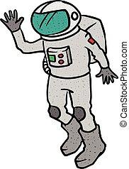 Astronaut hand drawn sketch vector illustration