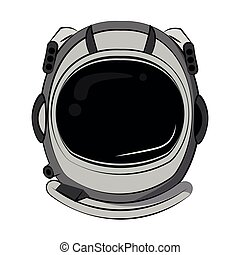 Astronaut helmet cartoon