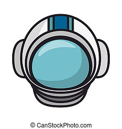 astronaut helmet isolated icon