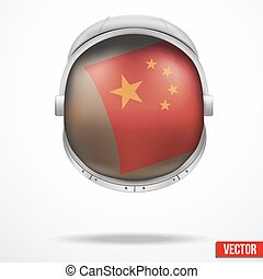 Astronaut helmet with flag China